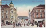 1081 - BRASOV - Centrul - super animat - old postcard - used - 1908