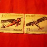 SERIE- AVIATIE- 1982 POLONIA, 2 valori - Timbre straine