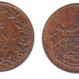 * Moneda 2 bani 1867 HEATON - Moneda Romania