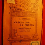 Al.Odobescu - Cateva ore la Snagov - BPT- interbelica - Carte veche