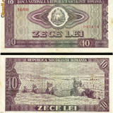 Bacnota 10 lei, 1966 - Bancnota romaneasca