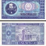 Bacnota 100 lei, 1966 - Bancnota romaneasca