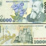 Bacnota 10000 lei, 1999, hartie - Bancnota romaneasca