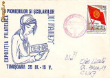 Ok-0519- Ro, Timisoara, plic circ. 1971, stamp. spec. Expo Filatelica Pionieri