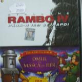 2 IN 1 RAMBO IV / OMUL CU MASCA DE FIER  (DVD) SIGILAT!!!