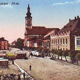 Ok-0604- Romania, Sighetul Marmatiei c.p. circ. 1917: Centru, targ animat