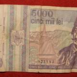 BANCNOTA 5000 LEI AVRAM IANCU MAI 1993 - Bancnota romaneasca
