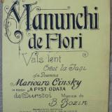 Manunchi de flori , partitura semnata olograf de B. Bozin , autor