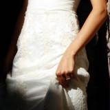 Rochie de mireasa, model unicat din dantela, culoarea ivory - Rochie de mireasa printesa