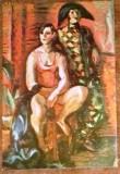 ROMANIA - PICTURA. IOSIF ISER - ARLECHINADA. ILUSTRATA MNH (C.P.9)