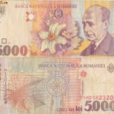 5 000 LEI 1998 uzata - Bancnota romaneasca
