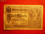 Bancnota 5 Marci 1917 Germania , cal.medie