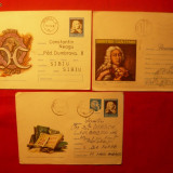 Set 3 Plicuri -Intreg Postal -DIMITRIE CANTEMIR, 1973 - Plic Papetarie