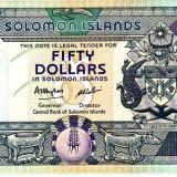 Bancnota Insulele Solomon 50 dolari (1986) - P17 UNC (valoare catalog $45)