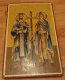 Icoana pe lemn cu foita de aur Sfintii Imparati