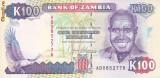 Bancnota Zambia 100 Kwacha (1991) - P34 UNC