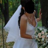 Rochie de mireasa White Lady + bolero +voal + gentuta mireasa - Rochie de mireasa printesa