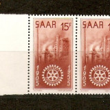 "Timbre Saar 1955/*358 ""ROTARY"" International - 50 ani - Timbre straine"