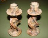 Doua sfesnice deosebite din caolin