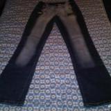 Jeans/blugi - Blugi dama, Bleumarin, Marime: 27, Lungi, Inalta
