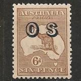 Australia.1932 Timbru de serviciu-supr. filigran 6 ED.69