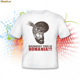 Tricou This is Romania, Alb, Maneca scurta, Bumbac