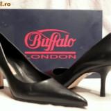 Pantofi piele ,foarte comozi ,  Buffalo (781-62 NAPPA BLACK)