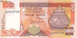 Bancnota Sri Lanka 100 Rupii 2001 - P118a UNC