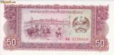 Bancnota Laos 50 Kip (1979) - P29 UNC