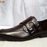 Pantofi barbati, ERNESTO, piele, ciocolati, italieni - FERREDIMANI, Marime: 43, 44, Culoare: Maro, Piele naturala