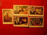 Serie mica - COSMOS -SOYUZ 11 - 1972 CIAD ,5 val.stamp.