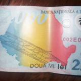 Bancnota 2000 lei eclipsa 1999 - Bancnota romaneasca
