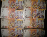 8 bancnote 5000 lei Blaga 1998
