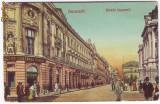558 - BUCURESTI, Lipscani street, stampila de VAPOR - old postcard - used - 1906
