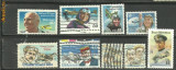 SUA - PIONIERI AVIATIE, 9 timbre stampilate, R24, Transporturi, Stampilat