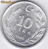 10 Lire turcesti Turcia 1986, Europa