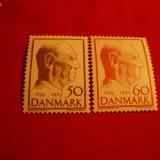 Serie- Aniversare 70 Ani a Regelui - 1969 DANEMARCA, 2 val. - Timbre straine