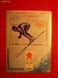 Colita- Olimpiada Sapporo 1971-SKI ,YEMEN , stampilat