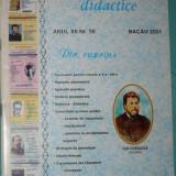 CONVORBIRI DIDACTICE ANUL XII NR 36 BACAU 2001