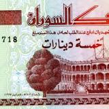 Sudan 5 pounds 1993 unc