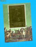 ST-66=YEMEN Personalitati istorice NAPOLEON -colita foita aur,stampilata, Stampilat
