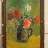 Garoafe 40 x 57 cm, ulei pe carton, flori - Pictor roman, Realism