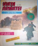 ROMANIA - VIATA ARMATEI. REVISTA ILUSTRATA CU POSTER ELICOPTER APACHE