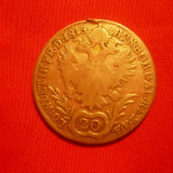 20 Kr, Austria, 1815, argint, lit.A, d=2, 7, cal. medie, urme agatat.