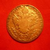 20 Kr, Austria, 1830, argint, lit.A, d=2, 7, urme agatatoare