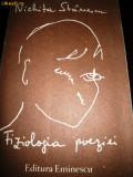 Cumpara ieftin Nichita Stanescu, Fiziologia poeziei, 1990, cu autograf Alexandru Condeescu
