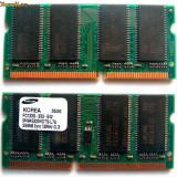 Memorie Laptop 512Mb SDRAM PC133 Samsung 2x 256Mb SO-DIMM Memory Kit