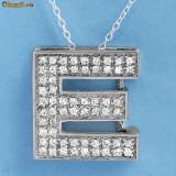 Oferta - Lantisoare/Pandativ , 6.4GR Argint925 cu pietre CZ - litera E