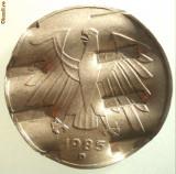 1.249 GERMANIA 5 DEUTSCHE MARK 1985 D DEMONETIZATA, Europa, Cupru-Nichel