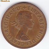 Anglia-Marea Britanie HALF PENNY 1966 regina Elizabeth II.
